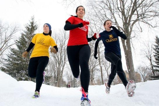 Queens students running