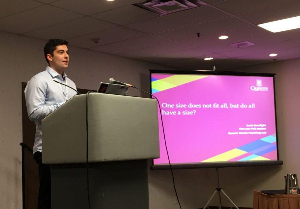 Jacob Bonafiglia, MSc, giving a presentation