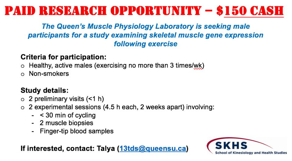 Advertisement for a paid research opportunty