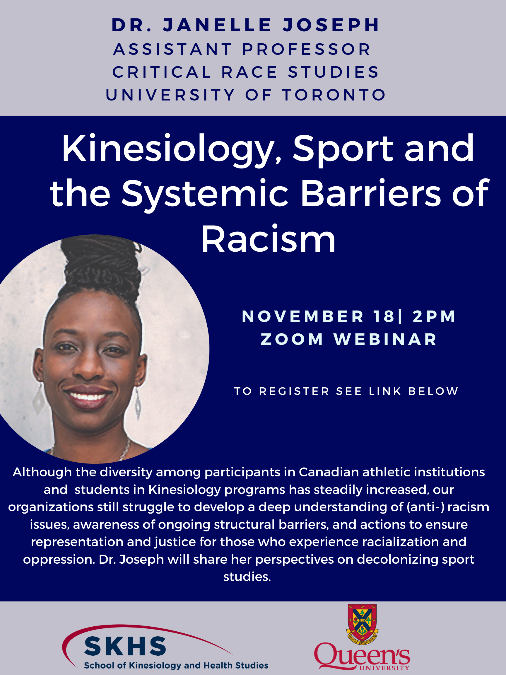 Kinesiology, Sport and the Systemic Barriers of Racism